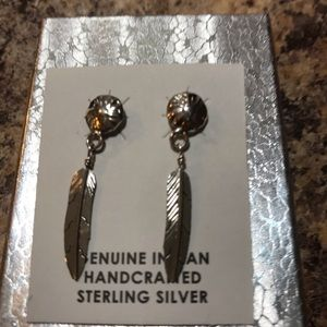 Jewelry - NWOT Native American Sterling Silver Earrings